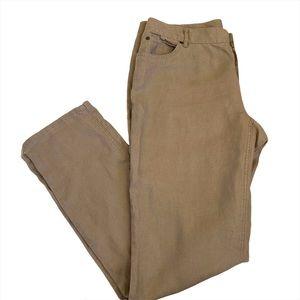 J.Jill Linen Pants Khaki Size 10